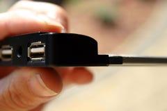 Acceso del USB Imágenes de archivo libres de regalías