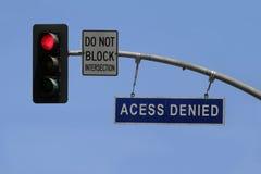 Acceso negado Foto de archivo libre de regalías
