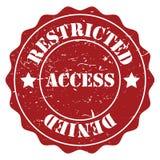 Acceso restricto libre illustration