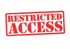 Acceso restricto ilustración del vector