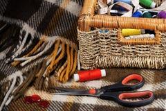 Accesories for needlework Stock Photo