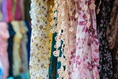 Accesorio, bufandas femeninas Imagen de archivo