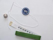 Accesorio de la costura Foto de archivo libre de regalías