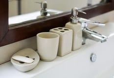 Accesorio del lavabo del cuarto de baño Fotografía de archivo libre de regalías