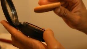 Accesorio del maquillaje almacen de metraje de vídeo