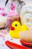 Accesorios al baño del niño Foto de archivo libre de regalías