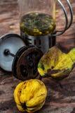 Accesorios al té de la fruta del té en estilo del vintage Foto de archivo