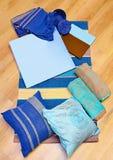 Accesorios azules Imagenes de archivo