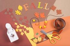 Accesorios coloridos para el arte de la caída Imagen de archivo libre de regalías