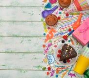 Accesorios coloridos para los partidos de los niños Imagen de archivo libre de regalías