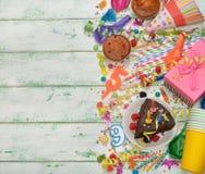 Accesorios coloridos para los partidos de los niños Imagenes de archivo