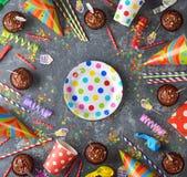 Accesorios coloridos para los partidos del ` s de los niños Fotos de archivo