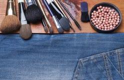 Accesorios cosméticos femeninos Fotos de archivo