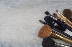 Accesorios cosméticos femeninos Imágenes de archivo libres de regalías