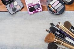 Accesorios cosméticos femeninos Imagen de archivo libre de regalías