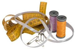 Accesorios de costura Imagen de archivo libre de regalías