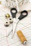 Accesorios de costura Foto de archivo libre de regalías
