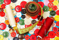 Accesorios de costura. foto de archivo libre de regalías
