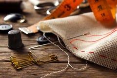 Accesorios de costura Fotos de archivo libres de regalías