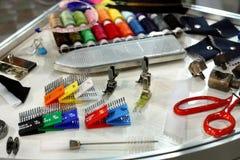 Accesorios de costura Foto de archivo