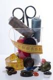 accesorios de costura 3 Foto de archivo libre de regalías