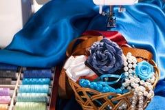 Accesorios de costura Fotografía de archivo libre de regalías