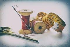 Accesorios de costura, herramientas Fotos de archivo