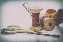 Accesorios de costura, herramientas Fotografía de archivo libre de regalías