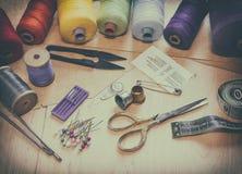 Accesorios de costura para la costura Foto de archivo