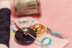 Accesorios de costura Todo para coser a mano Fotografía de archivo