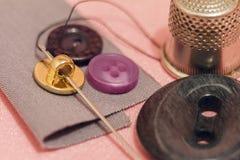 Accesorios de costura Todo para coser a mano Fotos de archivo