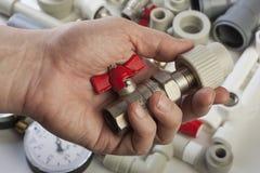 Accesorios de fontanería Foto de archivo libre de regalías