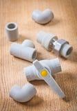 Accesorios de fontanería plásticos Foto de archivo libre de regalías