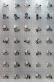 Accesorios de fontanería y piezas aflautadas Foto de archivo libre de regalías