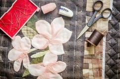 Accesorios de la afición de la adaptación Equipo de costura del arte, acolchando Fotografía de archivo libre de regalías