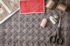 Accesorios de la afición de la adaptación Equipo de costura del arte, acolchando Foto de archivo