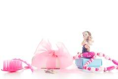 Accesorios de la belleza de la muchacha Imágenes de archivo libres de regalías
