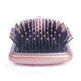 Accesorios de la belleza - primer del cepillo para el pelo Fotos de archivo libres de regalías