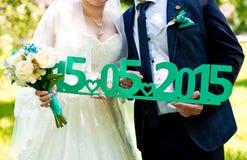 Accesorios de la boda Fotografía de archivo