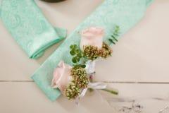 Accesorios de la boda del ` s del novio Foto de archivo