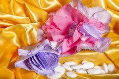 Accesorios de la boda en el papel Imagen de archivo libre de regalías