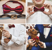 Accesorios de la boda fijados Fotos de archivo