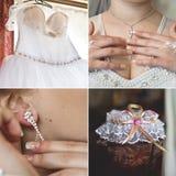 Accesorios de la boda fijados para la novia Imagen de archivo