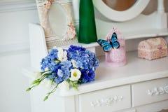 Accesorios de la boda, flores del ramo Fotografía de archivo