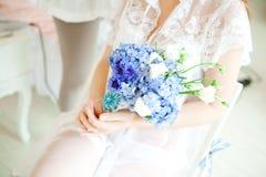 Accesorios de la boda, flores del ramo Fotos de archivo libres de regalías
