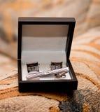 Accesorios de la boda para el novio fotografía de archivo libre de regalías