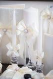 Accesorios de la boda para la mañana de la novia Foto de archivo