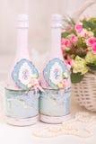 Accesorios de la boda para la mañana de la novia en rosa Weddi Fotografía de archivo libre de regalías