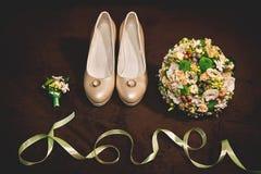 Accesorios de la boda para la novia foto de archivo libre de regalías
