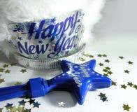 Accesorios de la celebración del Año Nuevo Foto de archivo